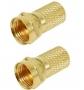 F plugg RG6 Gold